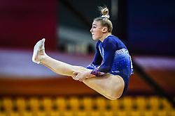 October 28, 2018 - Doha, Quatar - Lorette Charpy of France   during  Floor  qualification at the Aspire Dome in Doha, Qatar, Artistic FIG Gymnastics World Championships on 28 of October 2018. (Credit Image: © Ulrik Pedersen/NurPhoto via ZUMA Press)