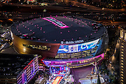 Aerial view of T-Mobile Arena the Strip, Las Vegas, Nevada, USA
