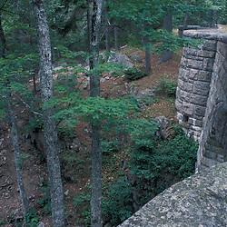 Acadia National Park, ME.Waterfall Bridge was built in 1925.  Carriage Roads.