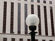 Seattle Federal Courthouse and streetlamp in Seattle, Washington, USA