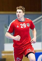 06.01.2017, BSFZ Suedstadt, Maria Enzersdorf, AUT, IHF Junior WM 2017 Qualifikation, Ungarn vs Österreich, im Bild Julian Pratschner (AUT) // during the IHF Men's Junior World Championships qualifying match between Hungary and Austria at the BSFZ Suedstadt, Maria Enzersdorf, Austria on 2017/01/06, EXPA Pictures © 2017, PhotoCredit: EXPA/ Sebastian Pucher