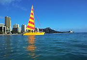 Catamaran, Waikiki, Oahu, Hawaii<br />
