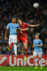 during the first half of the match - Photo mandatory by-line: Rogan Thomson/JMP - Tel: Mobile: 07966 386802 - 02/10/2013 - SPORT - FOOTBALL - Etihad Stadium, Manchester - Manchester City v Bayern Munich - UEFA Champions League Group D.