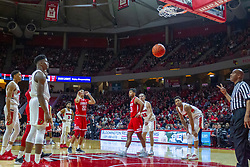 NORMAL, IL - February 16: Ja'Shon Henry drops a shot from the charity stripe through the nylons during a college basketball game between the ISU Redbirds and the Bradley Braves on February 16 2019 at Redbird Arena in Normal, IL. (Photo by Alan Look)