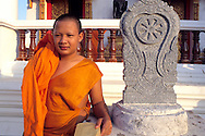 Young monk in a local Wat