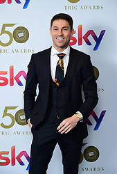 Joey Essex attending the TRIC Awards 2019 50th Birthday Celebration held at the Grosvenor House Hotel, London.