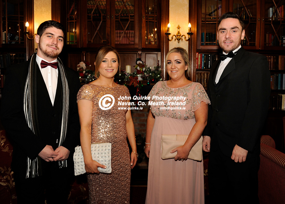 02-12-16. Meath Business and Tourism Awards 2015 at the Newgrange Hotel, Navan.<br /> L to R: Jarlath Brennan, Roisin Devilly, Elaine Maher and Graham Donaldson all from Navan.<br /> Photo: John Quirke / www.quirke.ie<br /> ©John Quirke Photography, Unit 17, Blackcastle Shopping Cte. Navan. Co. Meath. 046-9079044 / 087-2579454.