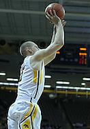 January 26, 2012: Iowa Hawkeyes guard Matt Gatens (5) puts up a shot during the NCAA basketball game between the Nebraska Cornhuskers and the Iowa Hawkeyes at Carver-Hawkeye Arena in Iowa City, Iowa on Thursday, January 26, 2012.