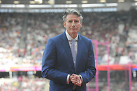 Athletics - 2017 IAAF London World Athletics Championships - Day One<br /> <br /> Coe Coe - President of the International Association of Athletics Federations at the Medal Ceremonies for re homing of medals from positive drug testing<br />  at the London Stadiuim.<br /> <br /> COLORSPORT/ANDREW COWIE