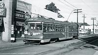 1948 Streetcar on Hollywood Blvd.