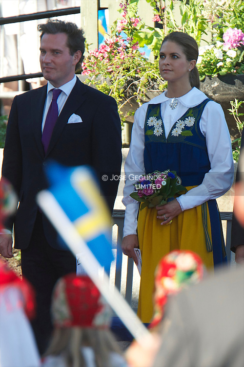 Christopher O'Neill, Princess Madeleine of Sweden and Prince Carl-Philip of Sweden attend the celebrations at Skansen during the National Day Celebrations on June 6, 2013 in Stockholm, Sweden.