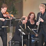 Øyvind Bjorå, Marc-André Hamelin and Martin Fröst perform Béla Bartók's Contrasts at the 66th Ojai Music Festival on June 10, 2012 in Ojai, California.