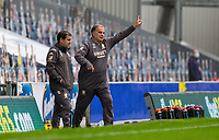 Leeds United manager Marcelo Bielsa shouts instructions to his team from the technical area<br /> <br /> Photographer Alex Dodd/CameraSport<br /> <br /> The EFL Sky Bet Championship - Blackburn Rovers v Leeds United - Saturday 4th July 2020 - Ewood Park - Blackburn<br /> <br /> World Copyright © 2020 CameraSport. All rights reserved. 43 Linden Ave. Countesthorpe. Leicester. England. LE8 5PG - Tel: +44 (0) 116 277 4147 - admin@camerasport.com - www.camerasport.com