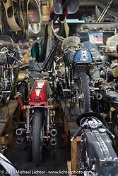 Visit to Animal Boat custom motorcycle shop after Mooneyes. Tokyo, Japan. December 8, 2015.  Photography ©2015 Michael Lichter.
