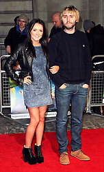 © Licensed to London News Pictures. 24/03/2014, UK. Clair Meek; James Buckley, Muppets Most Wanted - VIP screening, Curzon Mayfair, London UK, 24 March 2014. Photo credit : Richard Goldschmidt/Piqtured/LNP