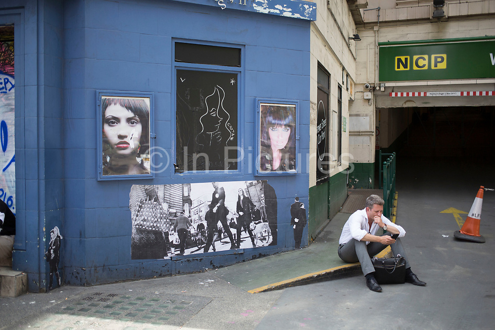 Street art scene in Soho in London, England, United Kingdom. (photo by Mike Kemp/In Pictures via Getty Images)