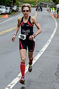 Beth Stalker during the run segment in the 2018 Hague Endurance Festival Olympic Triathlon