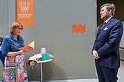 EINDHOVEN, 27-04-2021, High Tech Campus<br /> <br /> Koning Willem-Alexande tijdens de Koningsdag 2021 - Nationale toost  Foto: Brunopress/POOL/Mischa Schoemaker