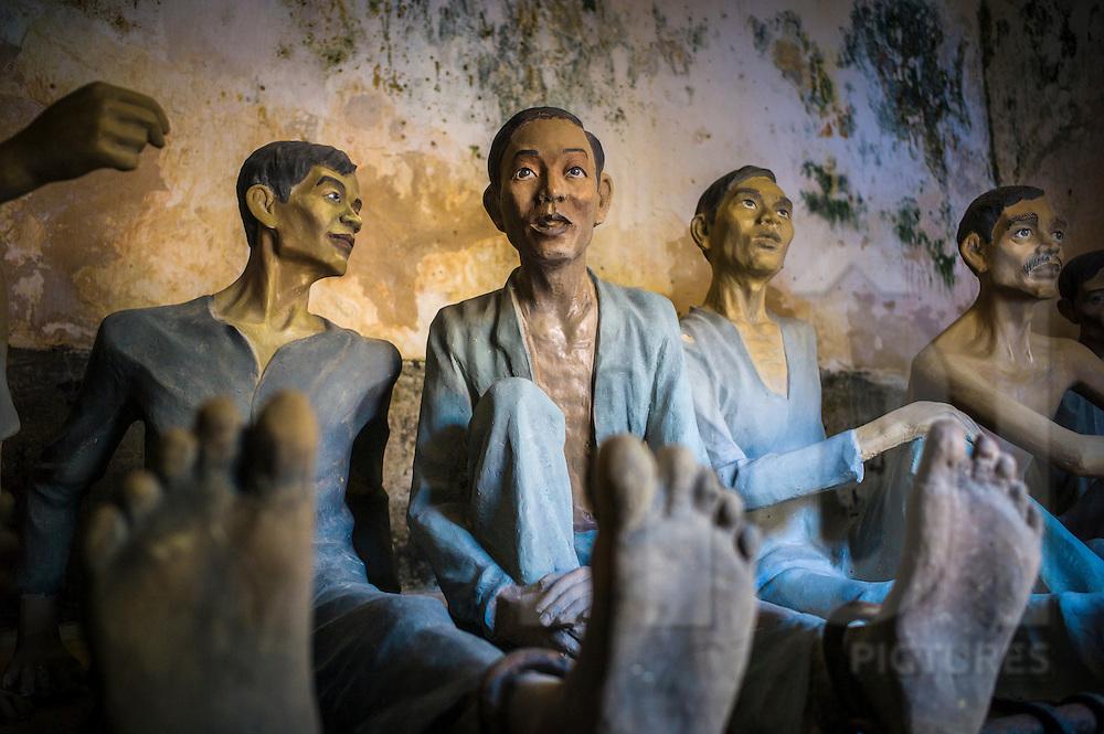 Mannequins representing political prisoners at Phu Mai prison in Con Dao, Ba Ria - Vung Tau Province, Vietnam, Southeast Asia