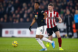 Anthony Martial of Manchester United takes on John Lundstram of Sheffield United - Mandatory by-line: Robbie Stephenson/JMP - 24/11/2019 - FOOTBALL - Bramall Lane - Sheffield, England - Sheffield United v Manchester United - Premier League