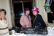 JOE CORRE; BOY GEORGE,  Philip Sallon's mass paranoia swine flu birthday party. DRESS: DISEASE RELATED OR SWINE, Home House. Portman Sq. London. 13 November 2009.