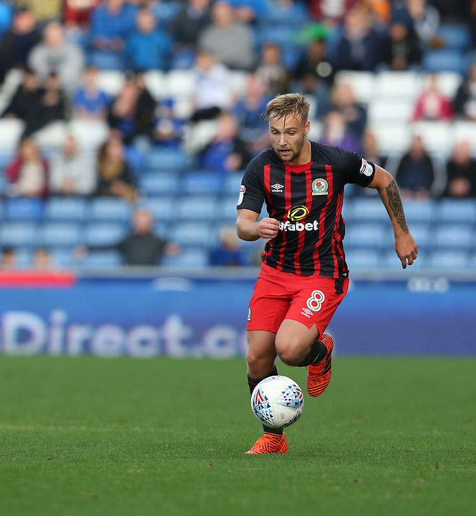 Blackburn Rovers' Harry Chapman<br /> <br /> Photographer Stephen White/CameraSport<br /> <br /> The EFL Sky Bet League One - Oldham Athletic v Blackburn Rovers - Saturday 14th October 2017 - Boundary Park - Oldham<br /> <br /> World Copyright © 2017 CameraSport. All rights reserved. 43 Linden Ave. Countesthorpe. Leicester. England. LE8 5PG - Tel: +44 (0) 116 277 4147 - admin@camerasport.com - www.camerasport.com