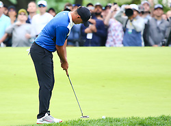 May 19, 2019 - Farmingdale, NY, U.S. - FARMINGDALE, NY - MAY 19: Brooks Koepka of the United States attempts a putt for par on 14 during the Final Round of the 2019 PGA Championship, on the Black Course, Bethpage State Park, in Farmingdale, NY. (Photo by Joshua Sarner/Icon Sportswire) (Credit Image: © Joshua Sarner/Icon SMI via ZUMA Press)