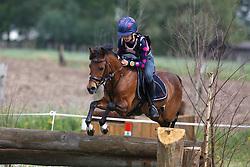 Malisart Michelle (BEL) - Catrien<br /> Nationaal Kampioenschap Eventing Pony's <br /> LRV Gavere 2014<br /> © Dirk Caremans