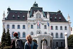 THEMENBILD - Eine Ansicht der Universität in der Slowenischen Hauptstadt Laibach am 30. April 2017 // THEMES PICTURE - a view of the University of the Slovenian capitol Ljubljana on 30 April 2017. EXPA Pictures © 2017, PhotoCredit: EXPA/ Erwin Scheriau