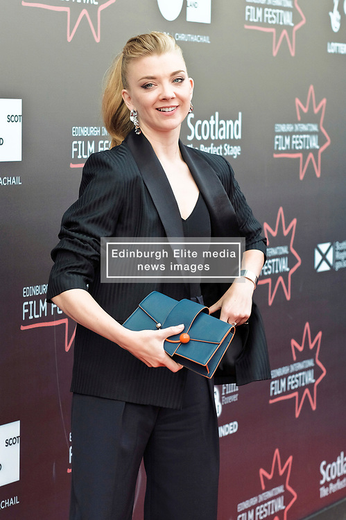 Edinburgh International Film Festival, Tuesday, 26th June 2018<br /> <br /> IN DARKNESS (EUROPEAN PREMIERE)<br /> <br /> Pictured: Natalie Dormer <br /> <br /> (c) Alex Todd   Edinburgh Elite media