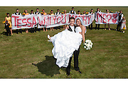 The marriage of Jeff and Tessa Simmons in Sharon, Pennsylvania on July 3, 2010.