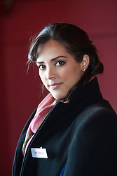 Miss Mexico gabriella Palacio..The Miss World participants visit Edinburgh Castle and will witness the firing of the One O'clock gun..MISS WORLD 2011 VISITS SCOTLAND..Pic © Michael Schofield.