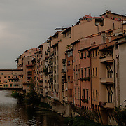 The Ponte Vecchio in Firenze, Toscana. Italy.