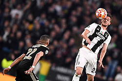 16.04.2019, Allianz Stadium, Turin, ITA, UEFA CL, Juventus Turin vs Ajax Amsterdam, Viertelfinale, Rückspiel, im Bild Rugani Daniele (Juventus F.C.) // Rugani Daniele (Juventus F.C.); during the UEFA Champions League quarterfinals, 2nd leg match between Juventus Turin and Ajax Amsterdam at the Allianz Stadium in Turin, Italy on 2019/04/16. EXPA Pictures © 2019, PhotoCredit: EXPA/ laPresse/ Fabio Ferrari<br />