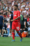 Liverpool's Kevin Stewart in action. Pre-season friendly match, Preston North End v Liverpool at Deepdale in Preston, England on Saturday 19th July 2014.<br /> pic by Chris Stading, Andrew Orchard sports photography.