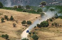 AUTO - WRC 2003 - CYPRUS RALLY -  20030622 - <br />N¡ 7 - PETTER SOLBERG - PHILL MILLS / SUBARU IMPREZA WRC - ACTION<br />PHOTO : ERIC VARGIOLU / DIGITALSPORT