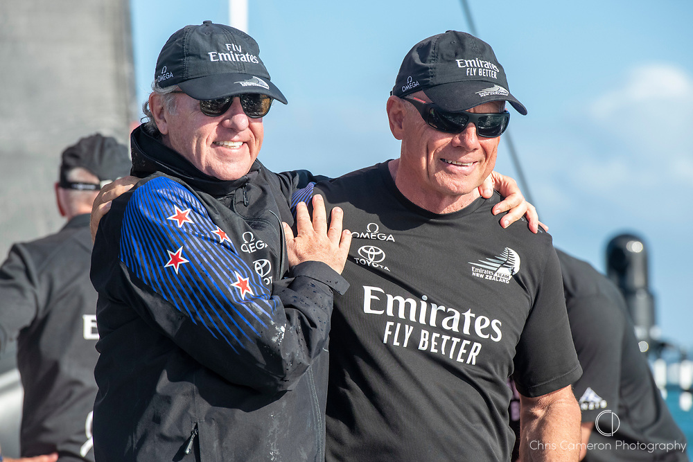 Emirates Team New Zealand Principal Matteo de Nora and CEO Grant Dalton after winning the America's Cup against Luna Rossa Prada Pirelli Team 7 - 3.  Wednesday the 17th of March 2021. Copyright photo: Chris Cameron