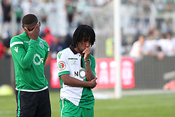 May 20, 2018 - Lisbon, Portugal - Sporting's forward Gelson Martins from Portugal (R ) reacts after losing the Portugal Cup Final football match CD Aves vs Sporting CP at the Jamor stadium in Oeiras, outskirts of Lisbon, on May 20, 2015. (Credit Image: © Pedro Fiuza/NurPhoto via ZUMA Press)