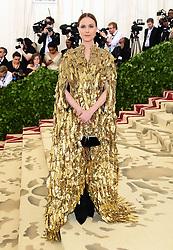 Evan Rachel Wood attending the Metropolitan Museum of Art Costume Institute Benefit Gala 2018 in New York, USA.