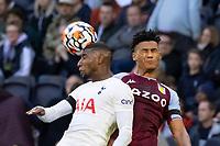 Football - 2021 / 2022 Premier League - Tottenham Hotspur vs Aston Villa - Tottenham Hotspur Stadium - Sunday 3rd October 2021<br /> <br /> Ollie Watkins (Aston Villa) and Emerson (Tottenham Hotspur) compete for the header <br /> COLORSPORT/DANIEL BEARHAM