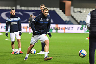 QPR Forward Charlie Austin(45) warming up during the EFL Sky Bet Championship match between Queens Park Rangers and Brentford at the Kiyan Prince Foundation Stadium, London, England on 17 February 2021.
