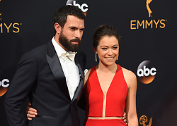 September 18, 2016 - Los Angeles, CA, USA - James Cullen, left, and Tatiana Maslany arrive at the 68th Annual Emmy Awards at the Microsoft Theater in Los Angeles, California on Sunday, September 18, 2016. (Credit Image: © Michael Owen Baker/Los Angeles Daily News via ZUMA Wire)