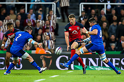 Owen Farrell of England kicks the ball through - Mandatory by-line: Robbie Stephenson/JMP - 06/09/2019 - RUGBY - St James's Park - Newcastle, England - England v Italy - Quilter Internationals