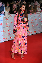 Lacey Turner attending the National Television Awards 2018 held at the O2, London. Photo credit should read: Doug Peters/EMPICS Entertainment