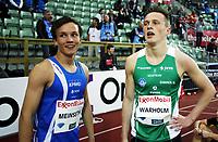 Friidrett , 13. juni 2013 , Diamond League , Bislett Games<br /> Athletics<br /> Even Meinseth , NOR (tv) og Karsten Warholm , NOR 200 m