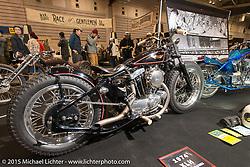 Custom 1974 Harley-Davidson XLH 900 Sportster at the Mooneyes Yokohama Hot Rod & Custom Show. Yokohama, Japan. December 6, 2015.  Photography ©2015 Michael Lichter.