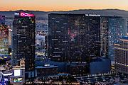Aerial view of Cosmopolitan of Las Vegas Hotel the Strip, Las Vegas, Nevada, USA
