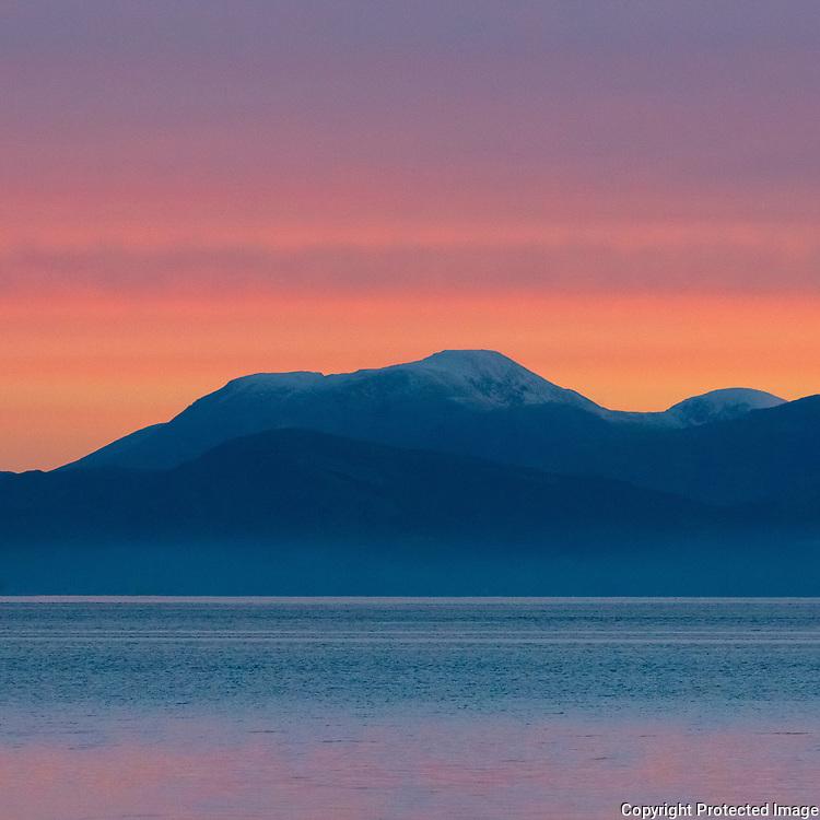 Ben Nevis from Kingairloch I, Highland, Scotland.