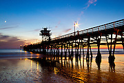 Low Tide During Sunset at San Clemente Pier