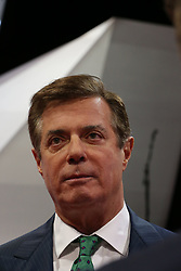 July 17, 2016 - Cleveland, Ohio, U.S - Donald Trump's campaign manager PAUL MANAFORT talks with reporters on the floor of the Quicken Arena today before the start of the Republcan Convention tomorrow. (Credit Image: © Mark Reinstein via ZUMA Wire)